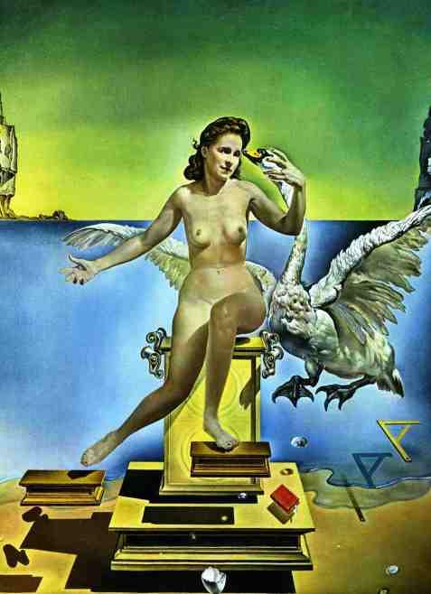 Leda e o cisne - Salvador Dali