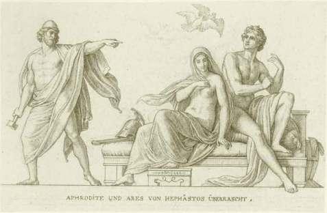 Hephaestus afrodite ares Carolsfeld