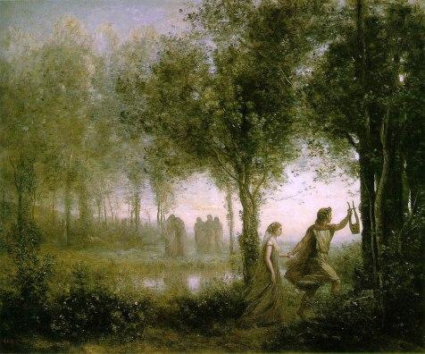 Orfeu e Eurídice - Corot